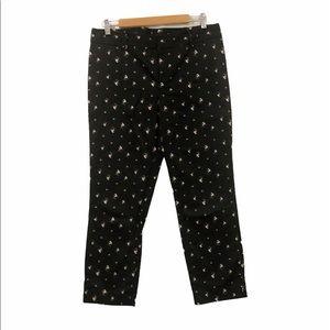 Club Monaco Ali Pants Black/Floral Size10